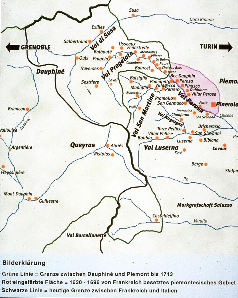 Piemont Weinbau Karte.Waldenser